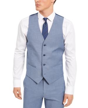 Men's Slim-Fit Stretch Solid Suit Vest