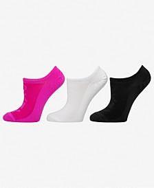 Sport Women's 3-Pk. Microfiber Mesh Logo Liner Socks