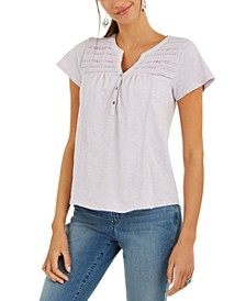 Split-Neck Top, Created for Macy's