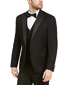 Men's Slim-Fit Stretch Black Tuxedo Jacket, Created for Macy's