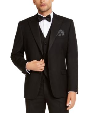 Men's Classic-Fit Stretch Black Tuxedo Jacket