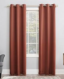 """Preston 40"""" x 63"""" Grommet Top Blackout Curtain Panel"""