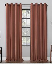 "52"" x 63"" Linen Blend Blackout Curtain Panel"
