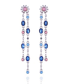 Extra Celestial Double Drop Linear Earrings