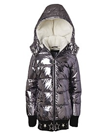 Little Girl Metallic Puffer Jacket