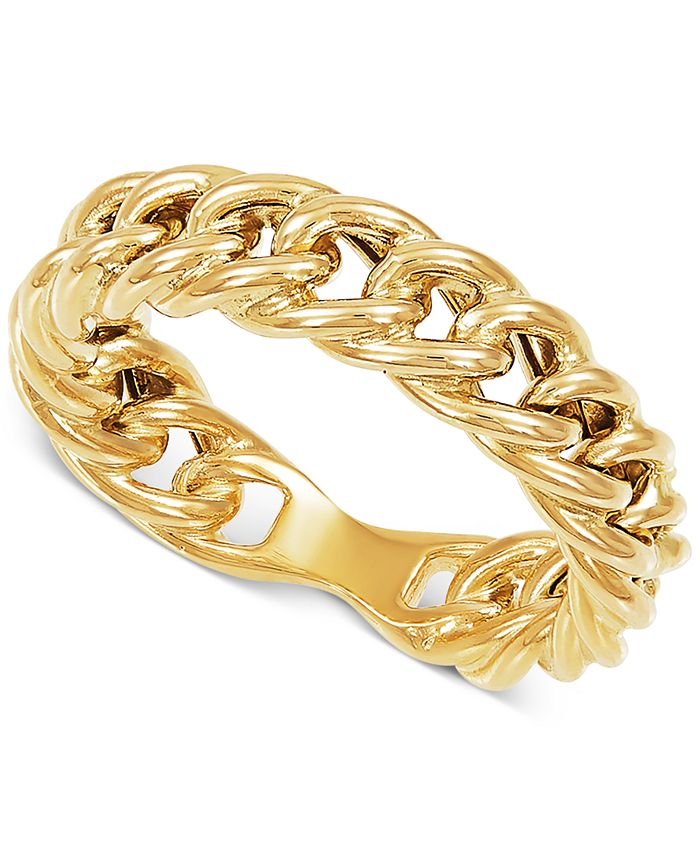 Macy's - Curb Link Statement Ring in 10k Gold