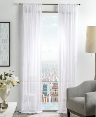 "Martha Stewart Glacier 50"" x 95"" Sheer Curtain Set"