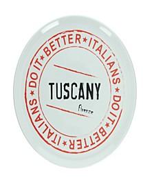 Round Tuscany Pizza Plate