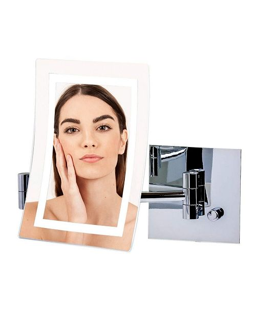 OVENTE Wall Mount Mirror with Diffused LED Ring Light