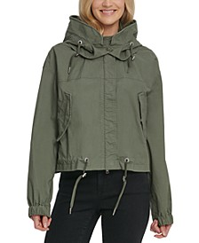 Cropped Hooded Cargo Jacket