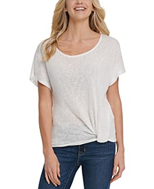 Knot-Front T-Shirt