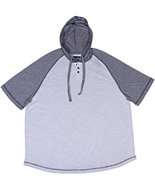 Short Sleeve Raglan Hooded Henley