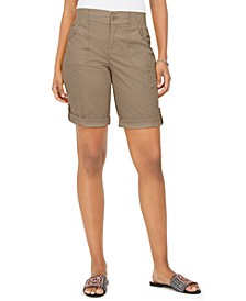 Petite Cotton Bermuda Shorts, Created for Macy's