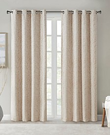 """Everly 50"""" x 84"""" Branch Jacquard Total Blackout Window Panel"""