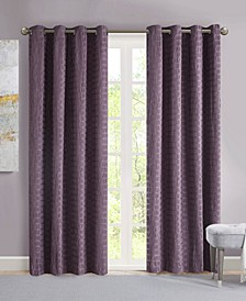 "Arcadia 50"" x 95"" Crinkle Matte Satin Curtain Panel"