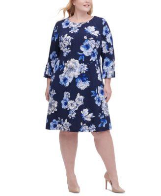 tommy hilfiger blue floral dress