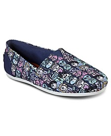 Women's BOBS Plush Cats of Ages Slip-On Casual Sneakers from Finish Line