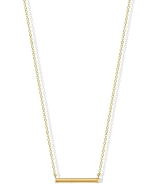 Hexagon Bar Necklace in 18k Yellow Gold over Sterling Silver