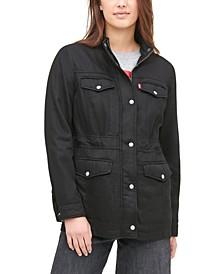 Mock-Neck Utility Jacket
