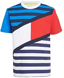 Little Boys Tom Color Blocked Stripe Logo T-shirt
