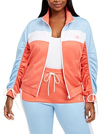 Trendy Plus Size Colorblocked Stretch-Knit Jacket