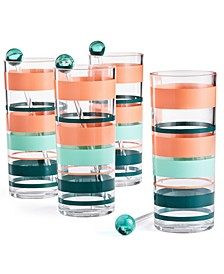 So-Cal Tom Collins Glasses, Set of 4, Created for Macy's