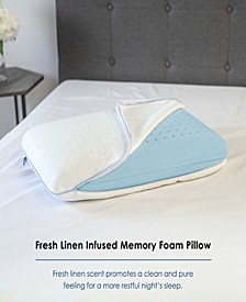 Wellness Collection Fresh Linen Infused Memory Foam Pillow