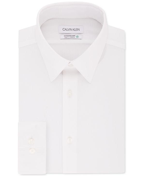 Calvin Klein Non-Iron Sustainable Slim Fit Performance Dress Shirt