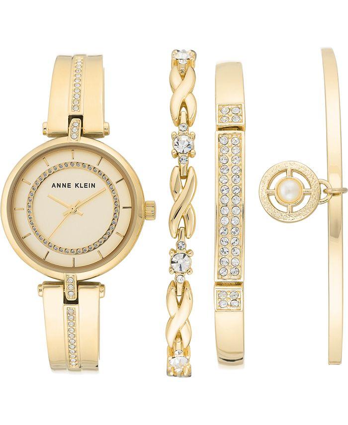 Anne Klein - Women's Gold-Tone Bracelet Watch 30mm