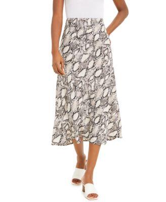Snake-Print Midi Skirt, Created for Macy's
