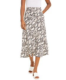 Snake-Print Midi Skirt, Created for Macy's