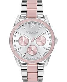 Women's Preston Stainless Steel & Blush Acetate Bracelet Watch 36mm