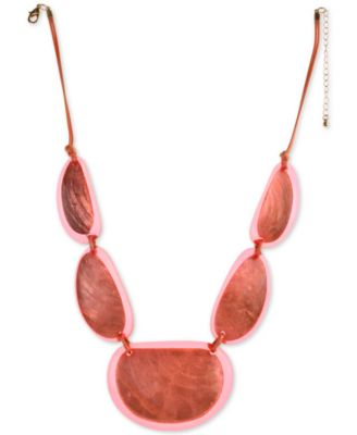 """BRIGHTLY COLORED WOOD DISC NECKLACE GOLD TONE 18/"""" W//2 1//2/"""" EXTENDER PURPLE"""