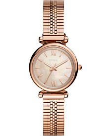Women's Carlie Mini Rose Gold-Tone Stainless Steel Bracelet Watch 28mm