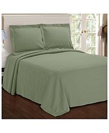 Paisley Jacquard Matelasse 3 Piece Bedspread Set, Full