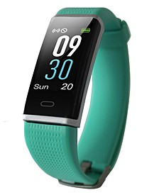 Green Rubber Band Activity Tracker and Heart Rate Monitor Watch 19mm