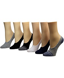 Ladies Foot Liner Socks, Pack of 6