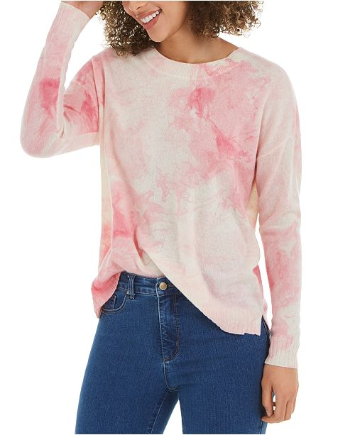 Charter Club Tie-Dye Cashmere Sweater, Created for Macy's