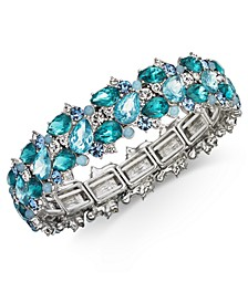 Silver-Tone Crystal & Stone Stretch Bracelet, Created for Macy's