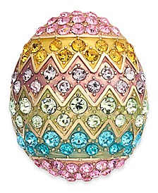 Gold-Tone Multi-Crystal Decorated Egg Pin, Created for Macy's