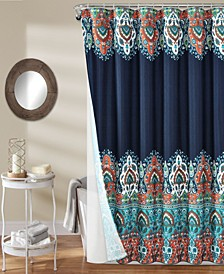 Bohemian Meadow 14Pc Shower Curtain Set
