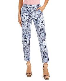 HUE® Zebra-Print Temp Tech Trousers, Extended Sizes