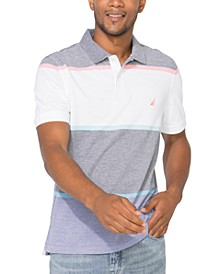 Men's Striped Colorblocked Polo, Created For Macy's
