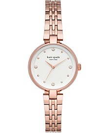 Women's Annadale Rose Gold-Tone Stainless Steel Bracelet Watch 30mm