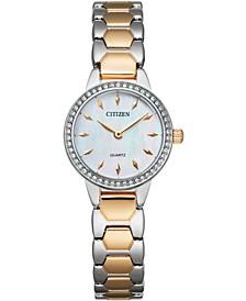 Women's Quartz Two-Tone Stainless Steel Bracelet Watch 24mm