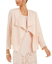 Nine West Draped Open-Front Jacket