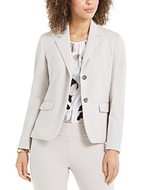 Two-Button Crepe Blazer