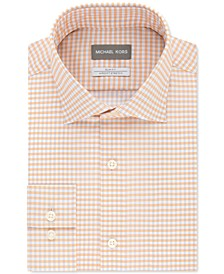 Men's Slim-Fit Gingham Dress Shirt