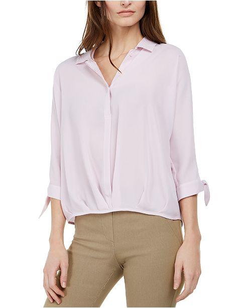 Alfani Petite Tie-Sleeve Blouse, Created for Macy's