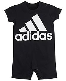 Baby Boys Cotton Logo-Print Romper